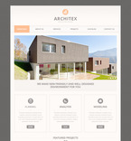 Architecture PSD  Template 57496