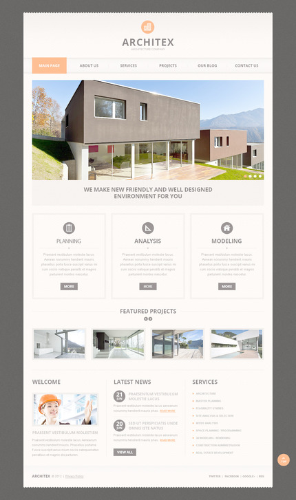 PSD макет сайта №57496