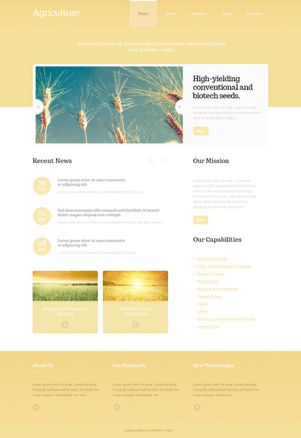 ADOBE Photoshop Template 57499 Home Page Screenshot