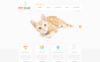 Animals & Pets PSD Template