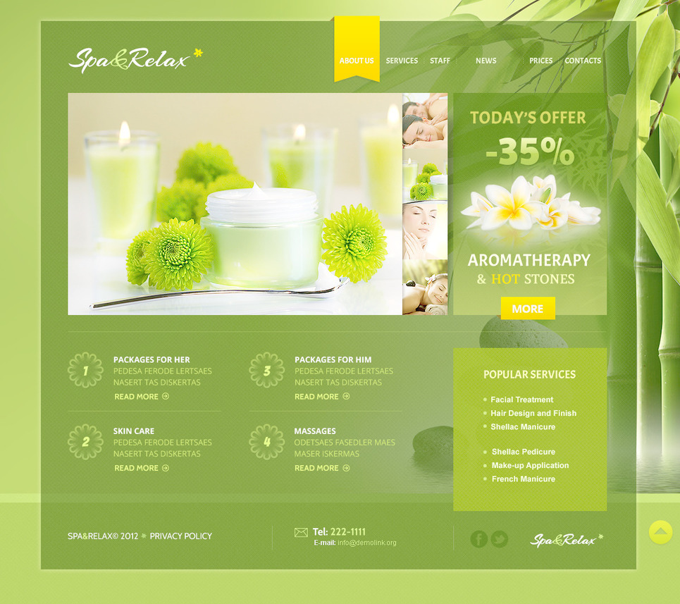 Beauty Salon PSD Template New Screenshots BIG