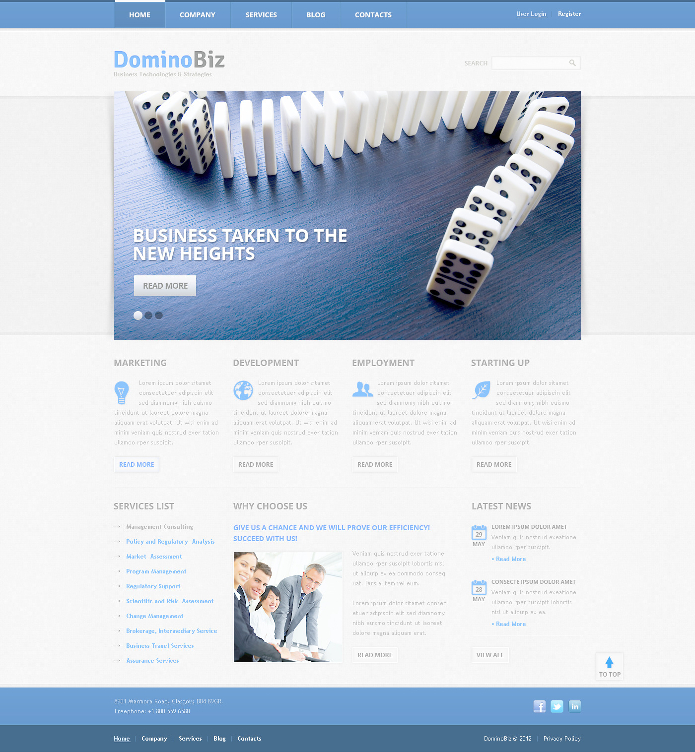 Business & Services PSD Template