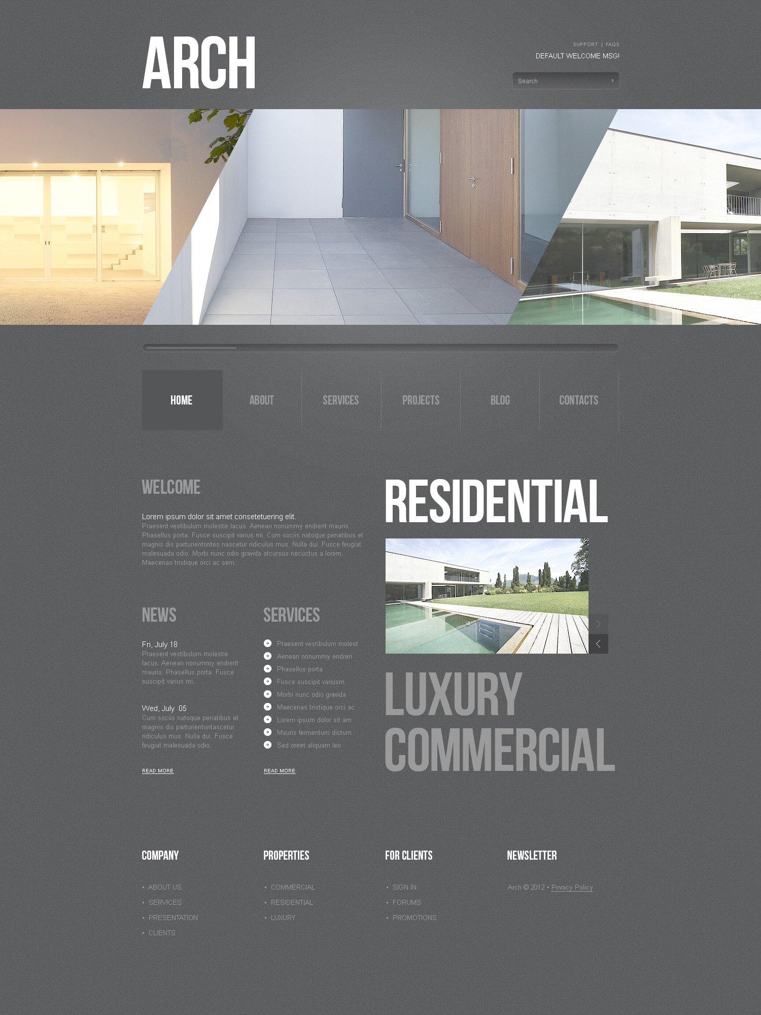 Construction Company PSD Template - screenshot