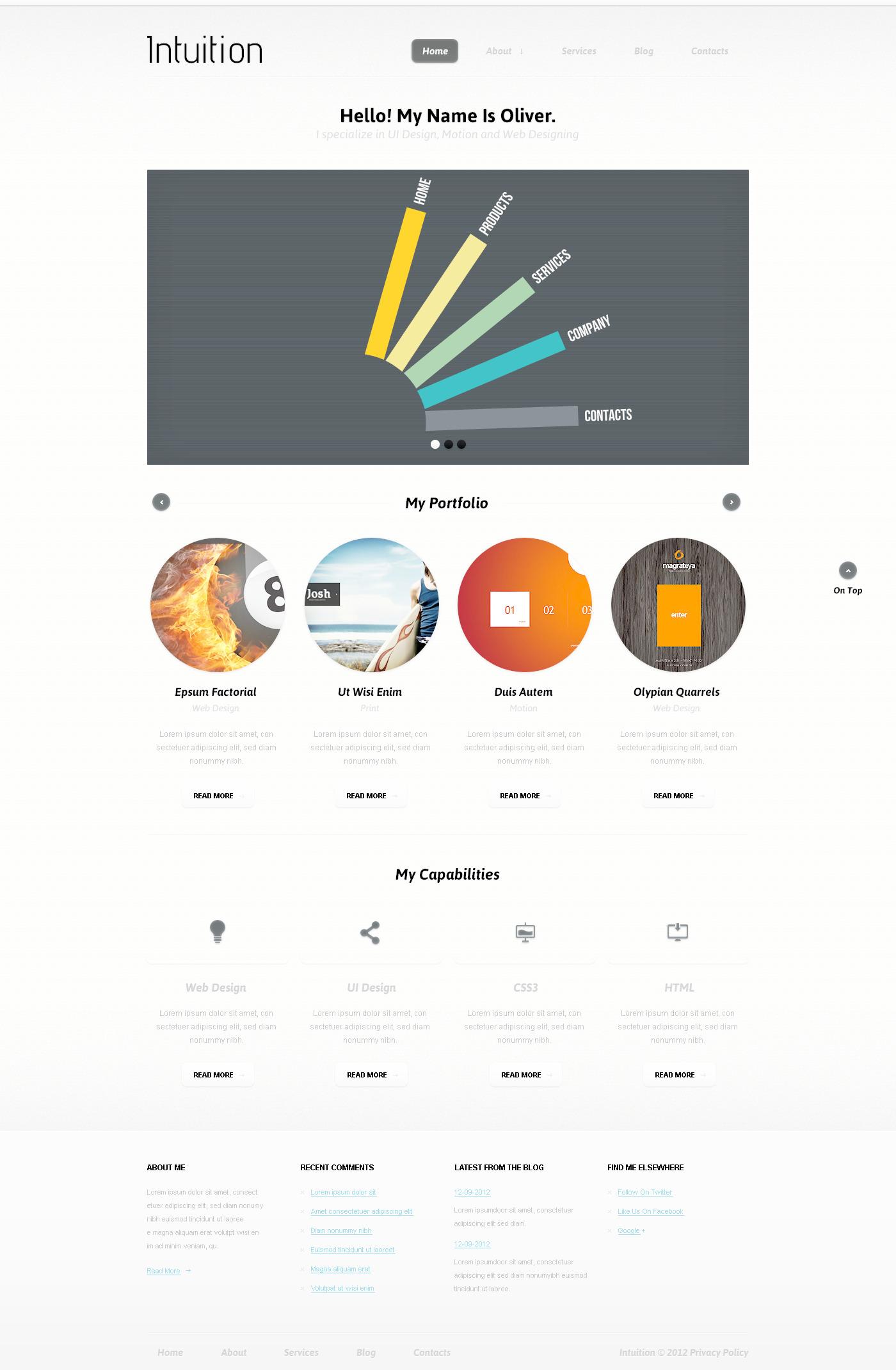 Designer Portfolio PSD Template - screenshot