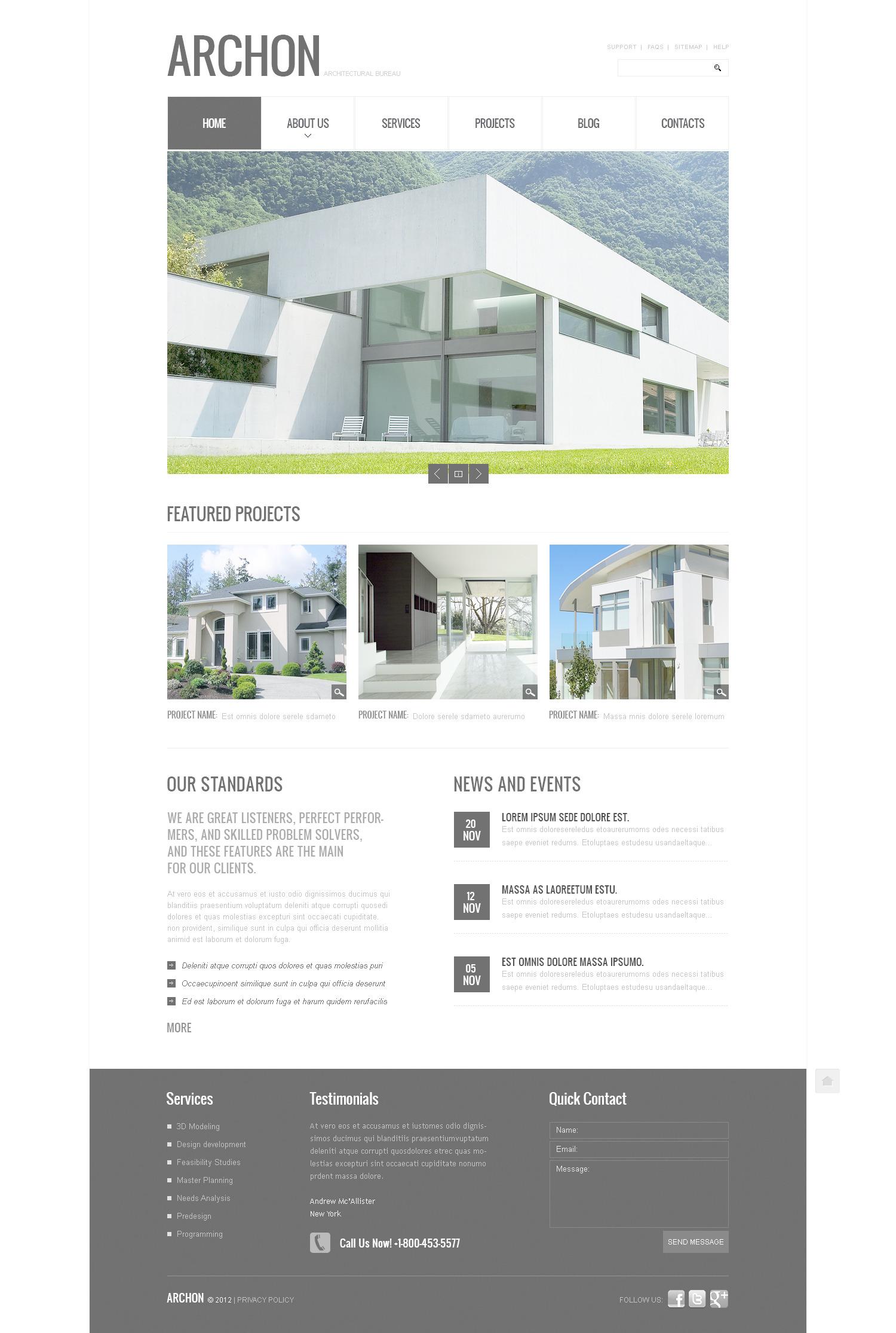 Építészet témakörű PSD sablon 57422 - képernyőkép