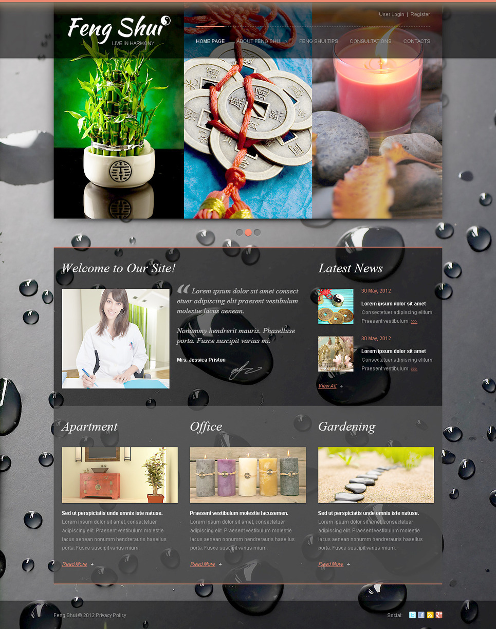 Feng Shui PSD Template New Screenshots BIG