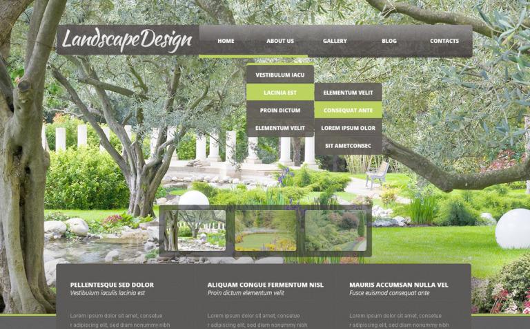 Landscape Design PSD Template #57485