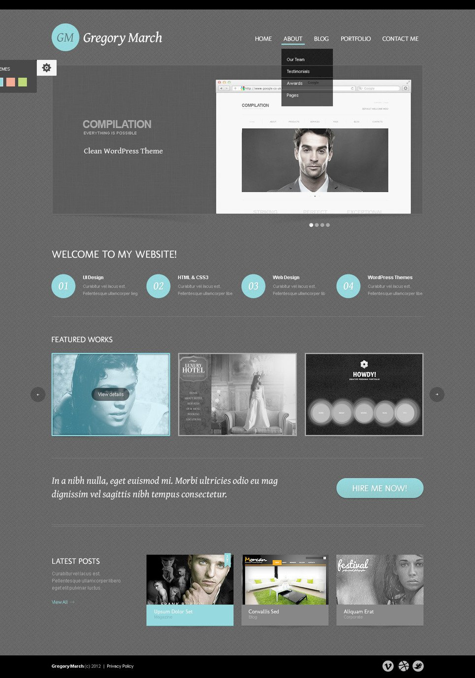 Photo Gallery PSD Template #57498