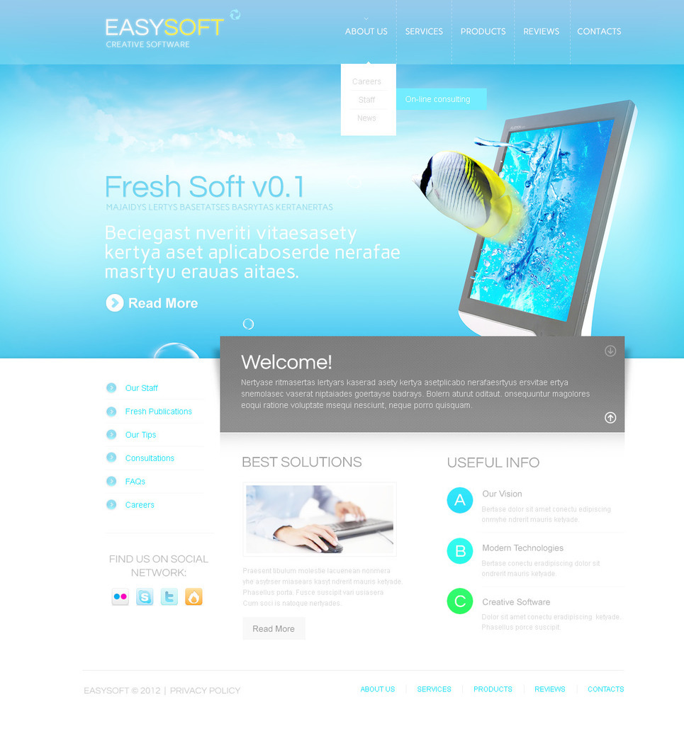 Software Company PSD Template New Screenshots BIG
