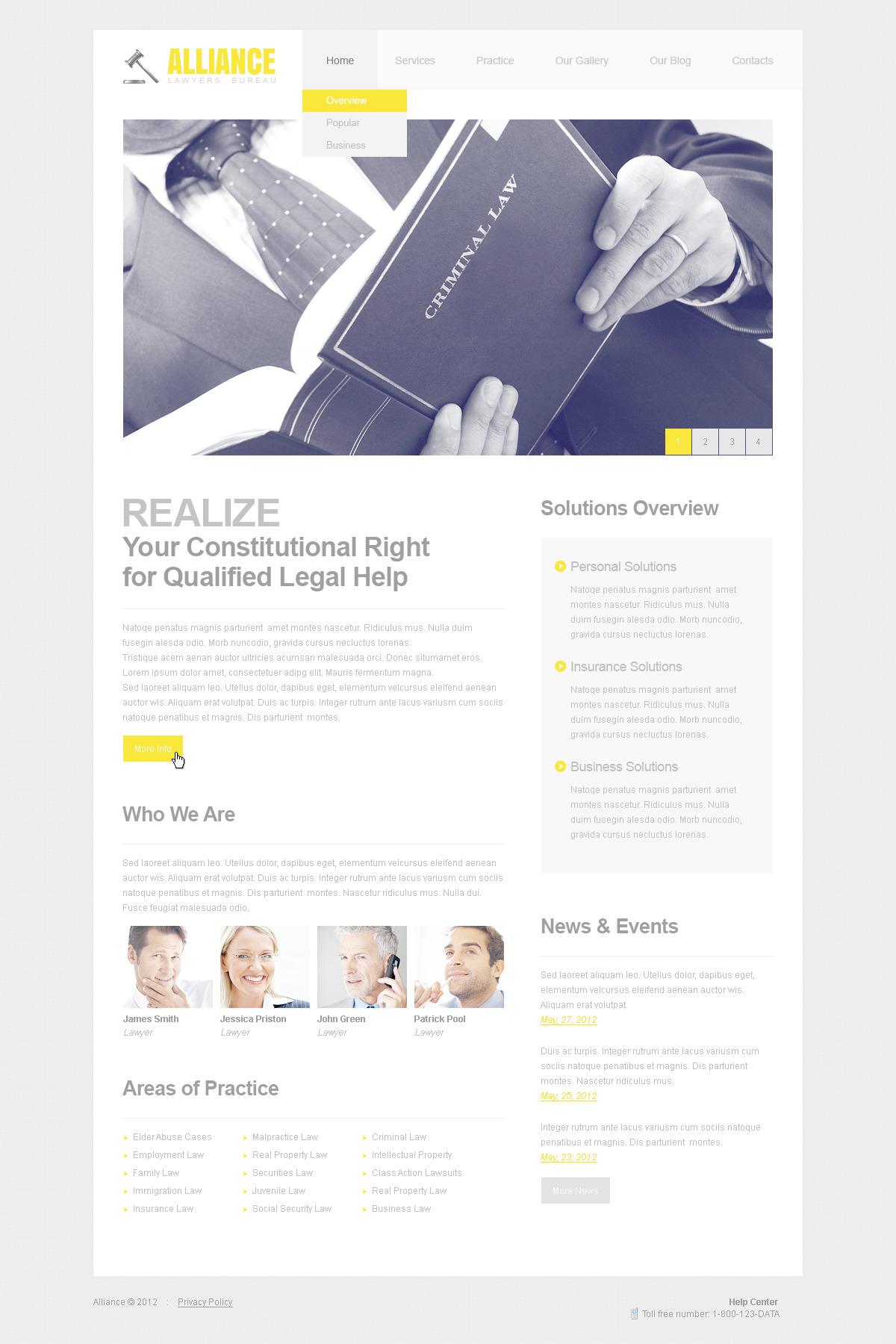 Szablon PSD #57469 na temat: firma prawnicza