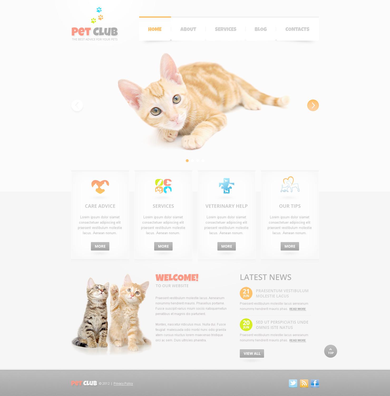 Tema PSD #57489 per Un Sito di Animali e Cuccioli