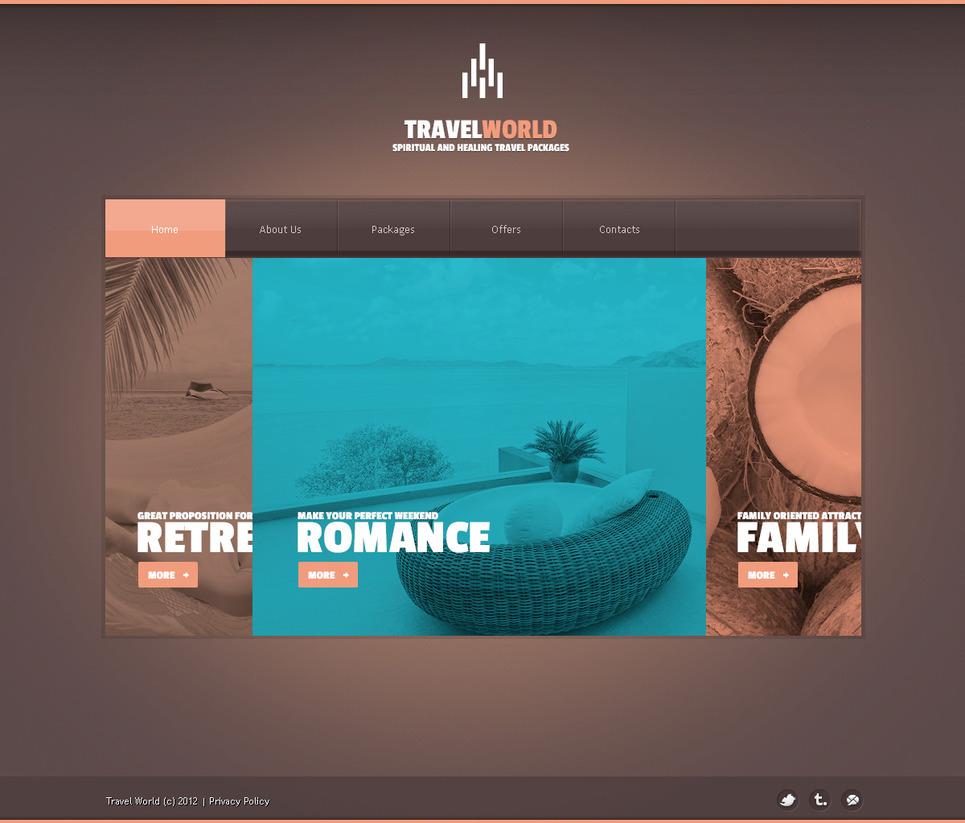 Travel Agency PSD Template #57450