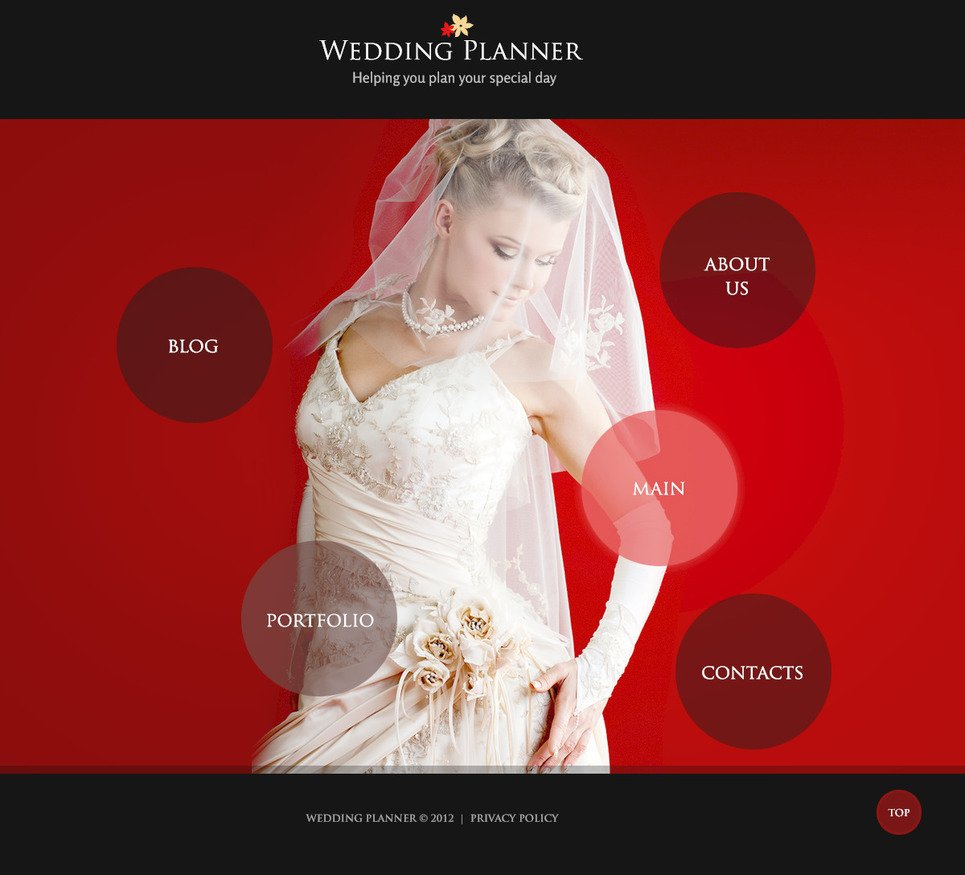 Wedding Planner PSD Template New Screenshots BIG