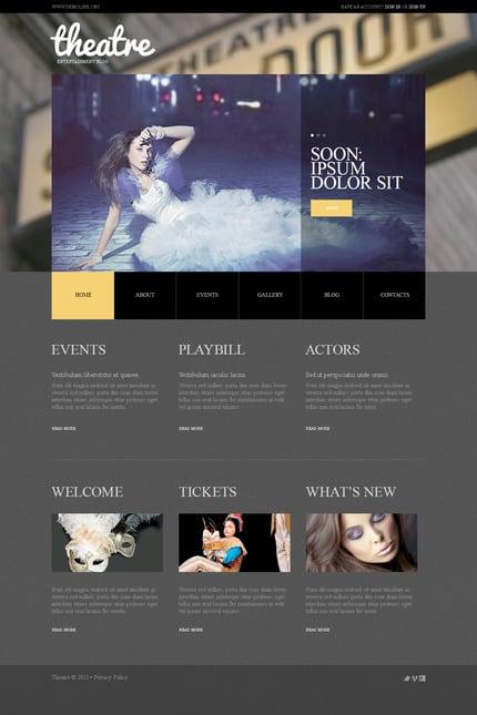 PSD макет сайта №57503