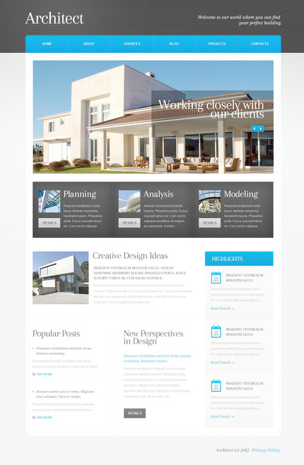 ADOBE Photoshop Template 57506 Home Page Screenshot