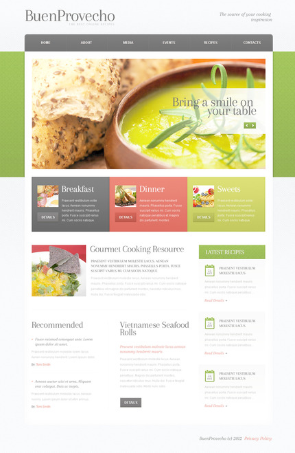 ADOBE Photoshop Template 57509 Home Page Screenshot