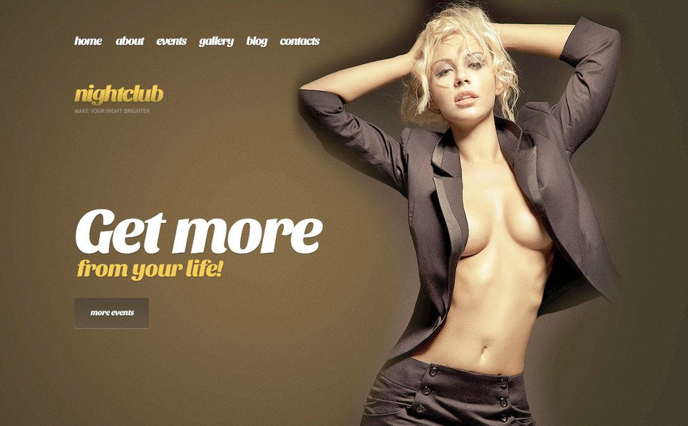 PSD Template over Nachtclub New Screenshots BIG