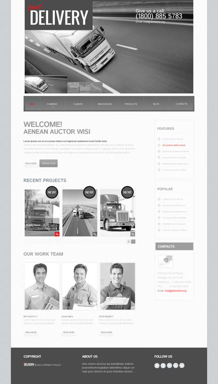 ADOBE Photoshop Template 57513 Home Page Screenshot