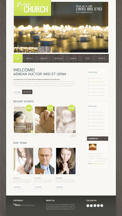 ADOBE Photoshop Template 57515 Home Page Screenshot