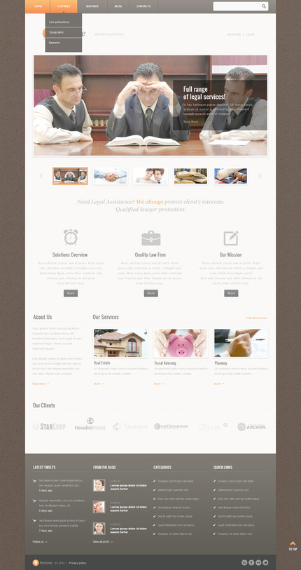ADOBE Photoshop Template 57517 Home Page Screenshot