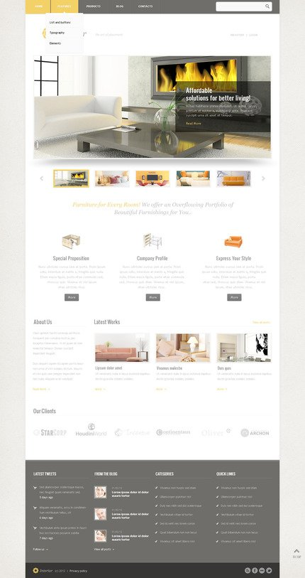 ADOBE Photoshop Template 57518 Home Page Screenshot