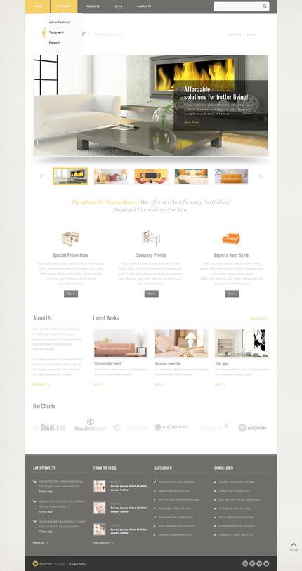PSD макет сайта №57518