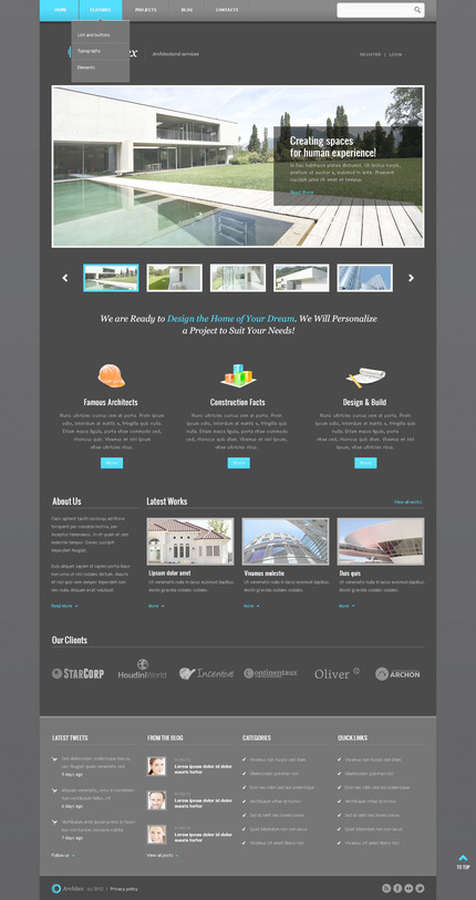 ADOBE Photoshop Template 57519 Home Page Screenshot