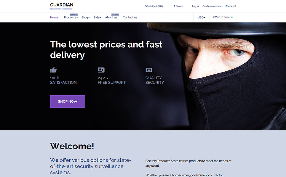 Responsive Shopify Thema over Beveiliging New Screenshots BIG