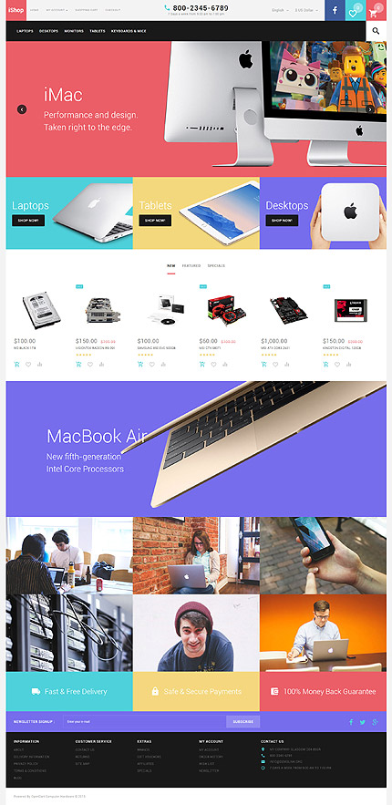 ADOBE Photoshop Template 57539 Home Page Screenshot