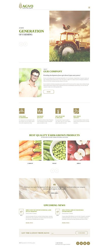 Download Templatemonster 57546 Agvo Agriculture 20