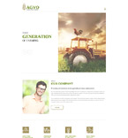 Agriculture Website  Template 57546