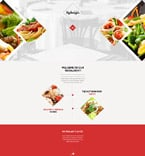 Cafe & Restaurant Website  Template 57550