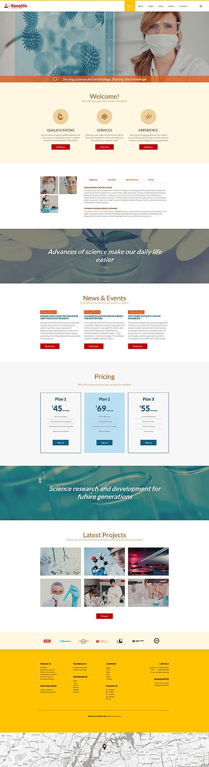 Joomla Theme/Template 57553 Main Page Screenshot