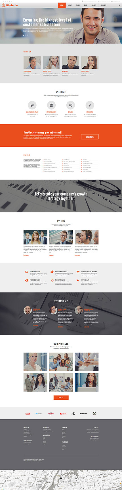 Joomla Theme/Template 57557 Main Page Screenshot