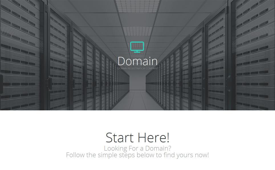 Responzivní Šablona mikrostránek na téma Doménové registrátory New Screenshots BIG