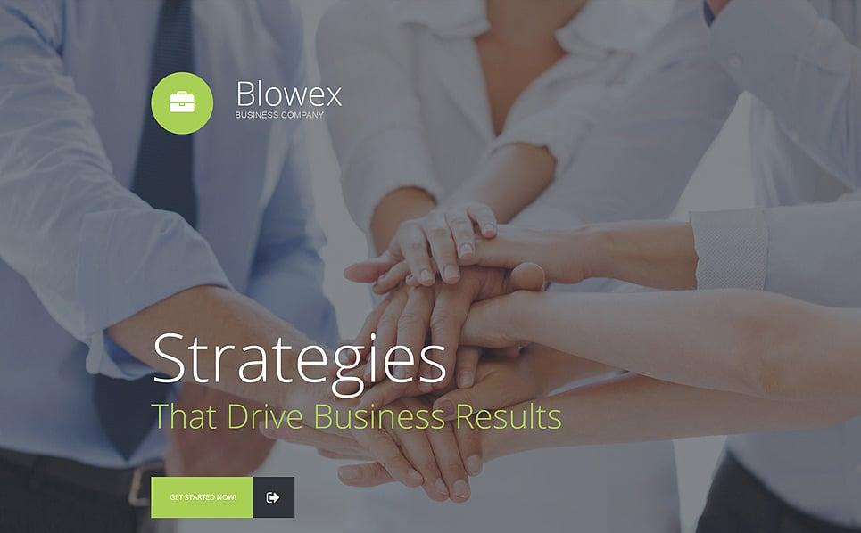 Modèle  De Page D'atterrissage adaptatif  pour site d'affaires et de services New Screenshots BIG