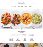 Cafe & Restaurant Joomla  Template 57574