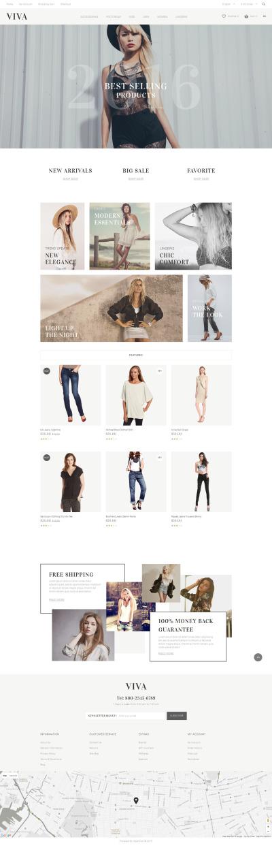 Адаптивний OpenCart шаблон на тему одяг #57564