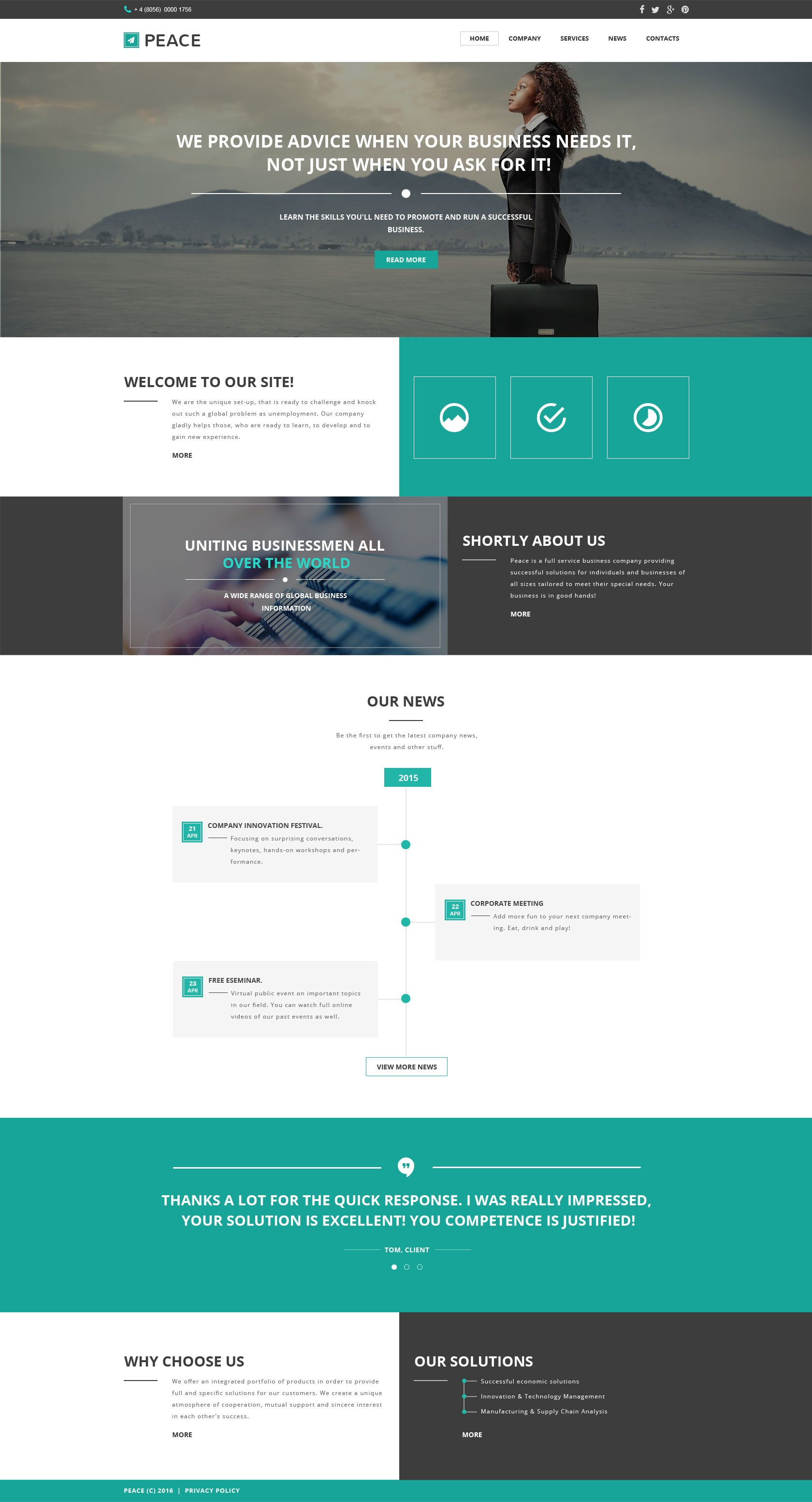 Business responsive website template 57549 business responsive website template wajeb Images