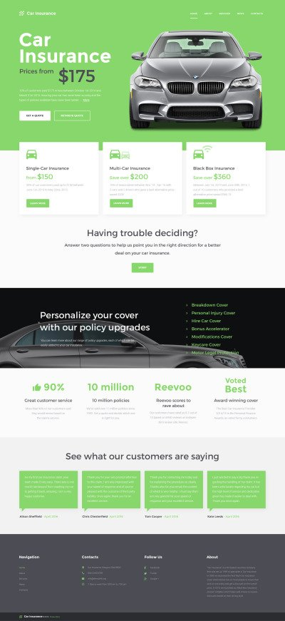 car insurance website template  Car Insurance Templates | TemplateMonster