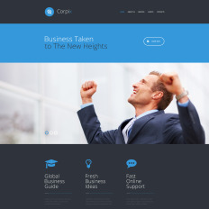 Corporate website templates templatemonster corpix parallax website template wajeb