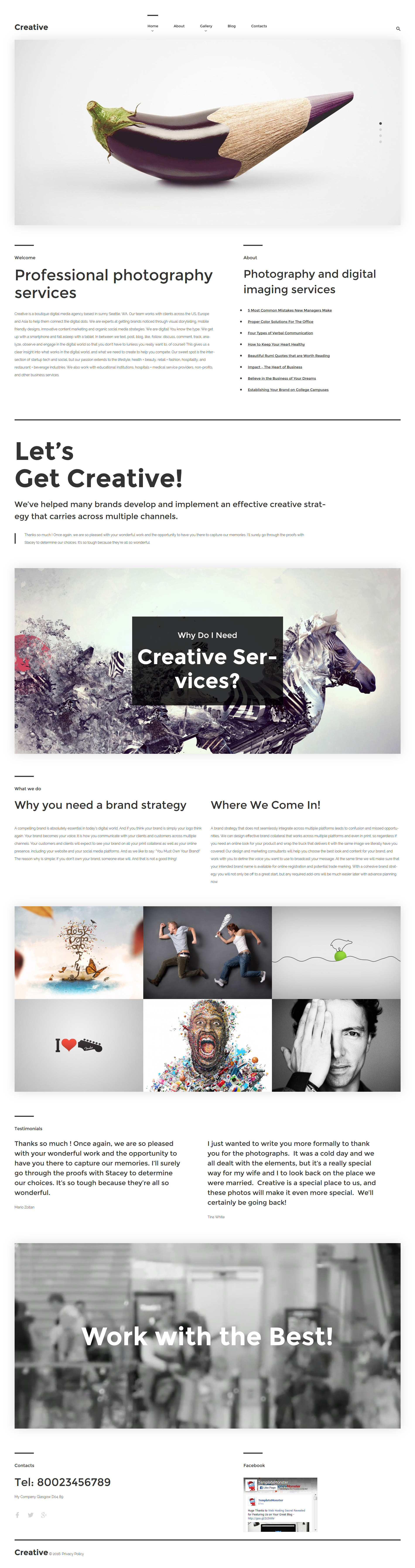 """Creative"" Responsive WordPress thema №57554 - screenshot"