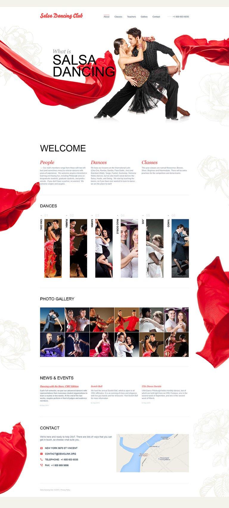 Dance Studio Muse Template New Screenshots BIG