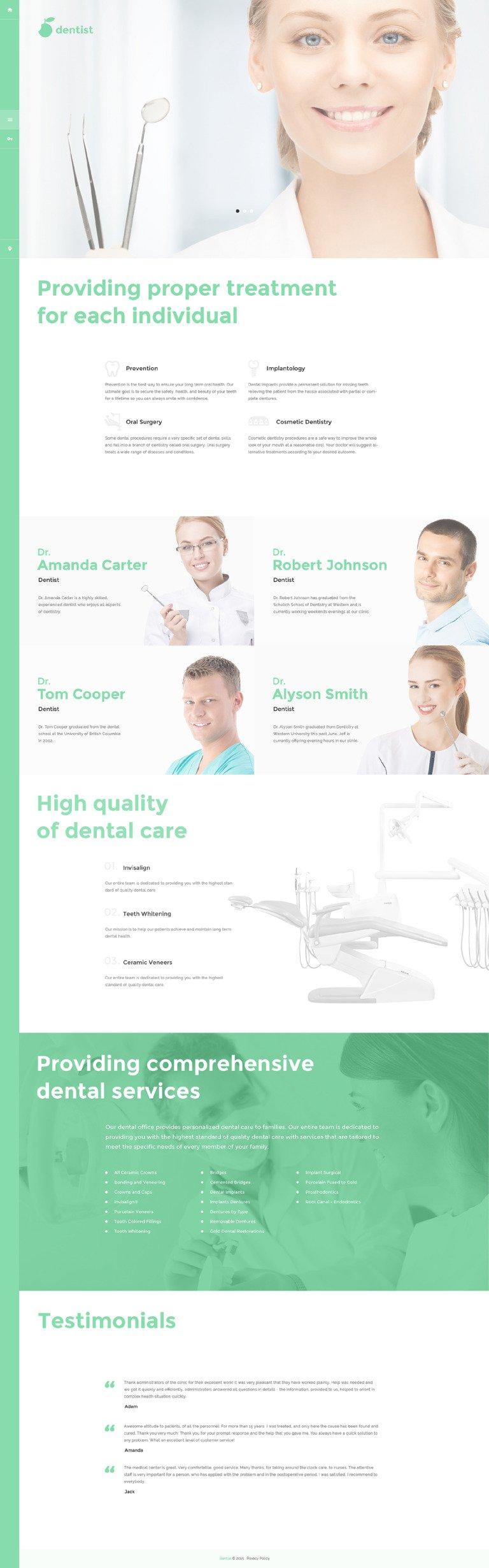 Dentist Joomla Template New Screenshots BIG