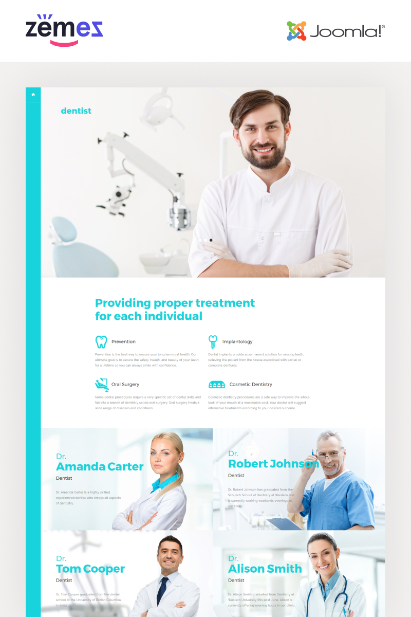 Dentist Template Joomla №57563