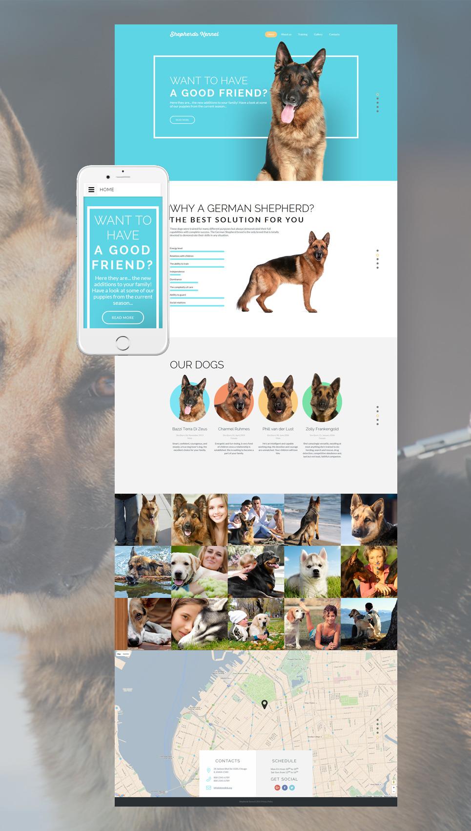 Dog Responsive Website Template New Screenshots BIG