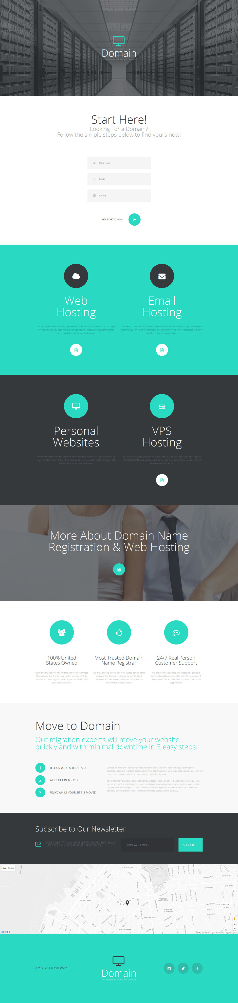 Domain Registrar Responsive Landing Page Template New Screenshots BIG