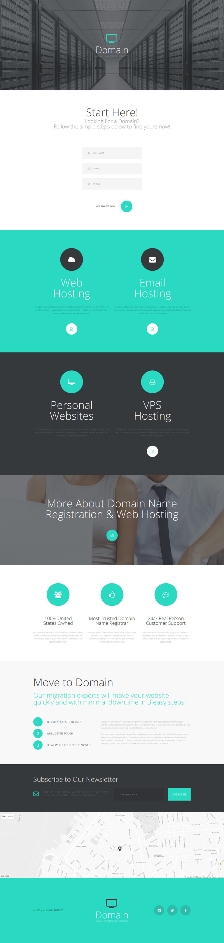 Domain Registrar Responsive Landing Page Template New Screenshots BIG