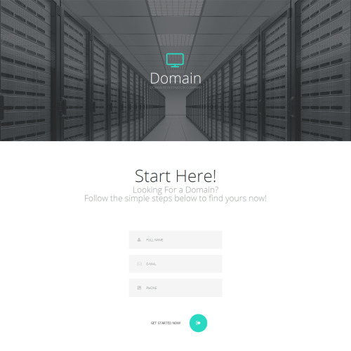 Domain  - Responsive Landing Page Template