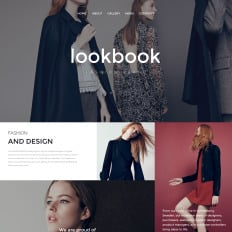 Fashion Website Themes With Parallax Scrolling Effect - Fashion website templates